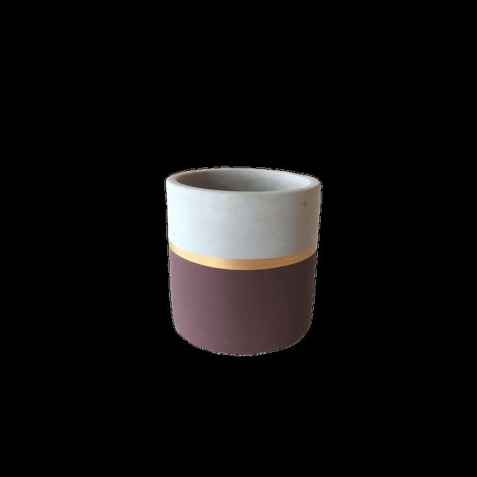 Vaso Cimento Listra Marsala P ( 6,5 Cm X 7,5cm)