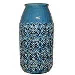 Vaso de Cerâmica Azul P