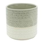 Vaso de Cerâmica Branco e Cinza Double Colors Urban