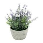 Vaso de Cerâmica Cinza com Flor Provence Urban