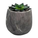 Vaso de Cerâmica Cinza Mármore Pequeno Urban