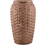 Vaso de Cerâmica Cobre Pine Pequeno 6874 Mart