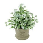 Vaso de Cerâmica com Flor Green Leaves Urban