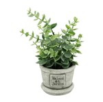 Vaso de Cerâmica com Planta Green Leaves Urban