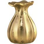 Vaso de Cerâmica Dourado Clay 7265 Mart