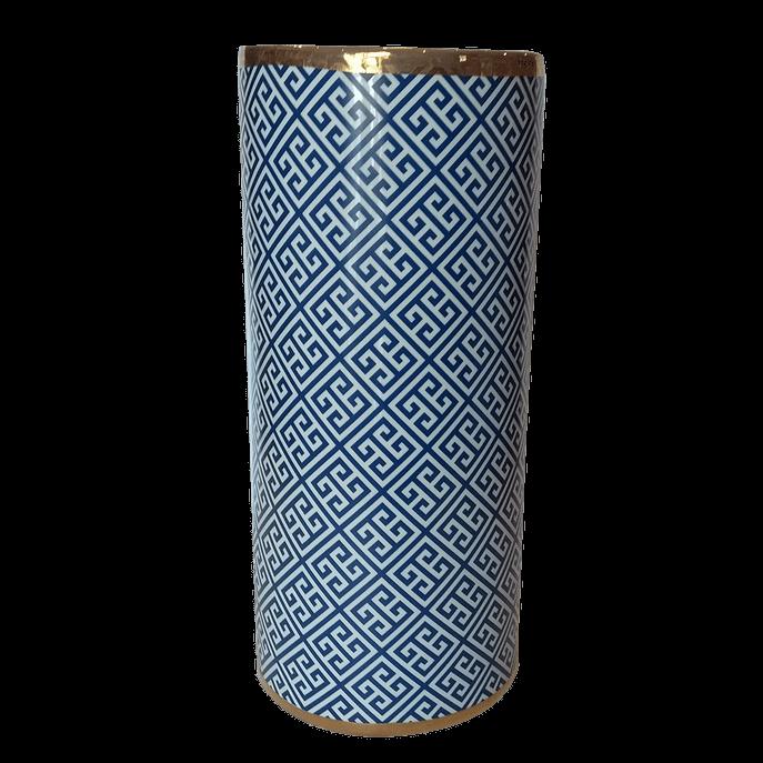 Vaso de Cerâmica Estampa Labirinto Único