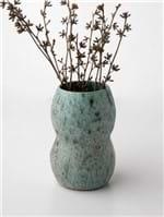 Vaso de Cerâmica Gomo Alto Verde