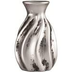 Vaso de Cerâmica Prata Roar 7013 Mart