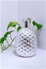 Vaso de Cerâmica Tipo Abacaxi Prata