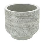 Vaso de Cimento Branco Lines And Forms Urban