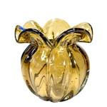 Vaso de Murano Chimera Ambar 15x17 Cm