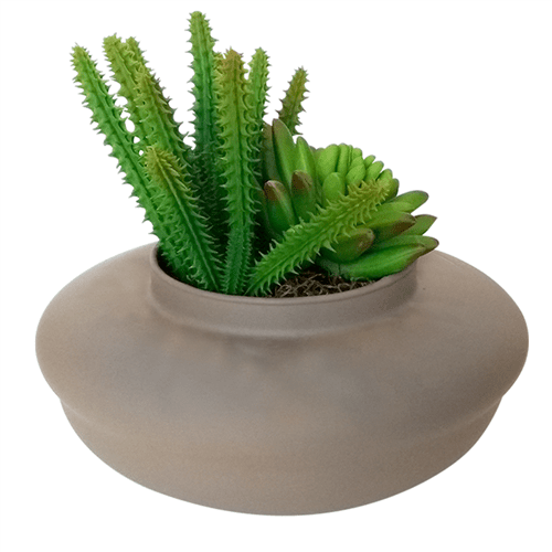 Vaso de Vidro Cinza Ikebana