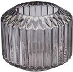 Vaso de Vidro Cinza Pleast Style Pequeno Urban