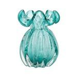 Vaso de Vidro Italy Azul 13x17,5cm