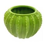 Vaso Decorativo de Cerâmica Cacto Verde 14,5cmx10,5cm Prestige