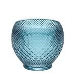 Vaso Decorativo de Vidro Azul 19x17 Cm