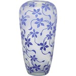 Vaso Lady Alto Relevo Blue 35x21cm Prestige Azul - Rojemac