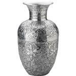 Vaso Mosaico Antique de Aluminio 22x22x37cm Cinza - Prestige