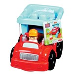 Veículo e Blocos de Montar - Mega Bloks - Caminhão de Lixo - Fisher-price