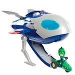 Veículo e Mini Figura - 21 Cm - PJ Masks - Super Moon Adventure - Qg Foguete - Dtc