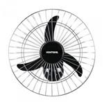 Ventilador de Parede 50cm Grade Cromada Premium Ventisol Bivolt Preto