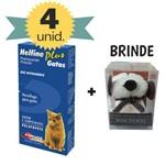 Vermífugo para Gatos Helfine Plus Combo 4 Unidades