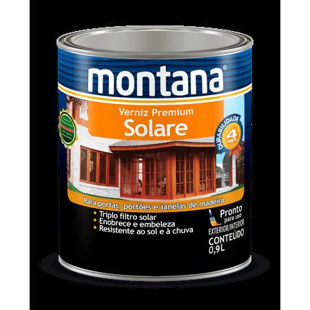 Verniz Premium Solare Acetinado Montana 0,9 Litro Imbuia