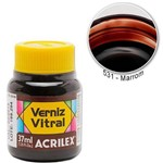 Verniz Vitral Marrom 531 Acrilex