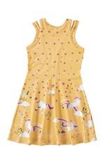 Vestido Abertura Ombro Menina Malwee Kids Amarelo - 4