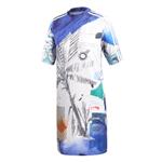 Vestido Adidas Farm Estampado Azul P
