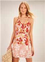 Vestido Alcinha Curto Estampado Florentina ROSA GG