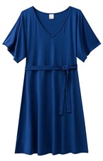 Vestido Amarração Malwee Azul - P
