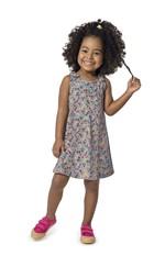 Vestido Amarração Menina Malwee Kids Cinza - 1
