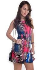 Vestido Animal Print Collor VE0561 - M