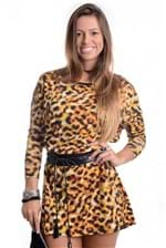 Vestido Animal Print com Courino VE1156 - P