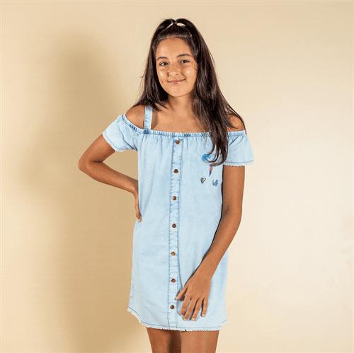 Vestido Avulso Jeans/12 e 14