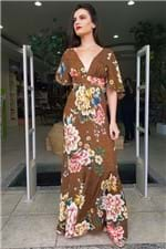 Vestido Babados Floral Oncinha Farm - P
