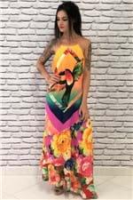 Vestido Barra Assimétrica Multicolorido Farm - P