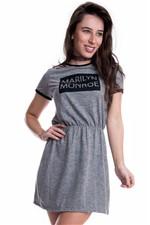 Vestido Básico com Estampa Marilyn Monroe VE1511 - P