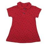 Vestido Bebê Manga Curta Vermelho em Malha Piquet-2