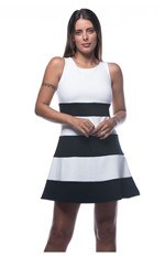Vestido Bicolor-branco - G