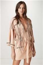 Vestido Chamois Correntes Nude - 36