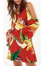 Vestido Chita de Banana Farm Vestido Curto Chita de Banana Farm - G