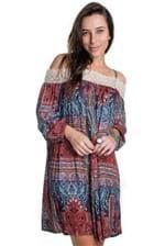 Vestido Ciganinha com Renda VE1343 - P