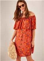 Vestido Ciganinha Estampado Floreio G