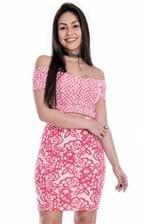 Vestido Ciganinha Jacquard com Recortes VE1611 - G
