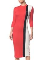 Vestido Ckj Mc Tricolor - Vermelho - Pp