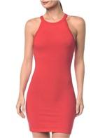 Vestido Ckj Sm Cotton - Vermelho - M