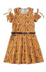 Vestido com Cinto Menina Malwee Kids Amarelo - 8