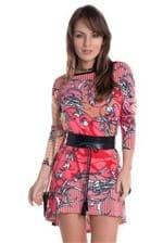 Vestido com Detalhe em Courino VE1093 - M